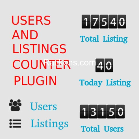 OSCLASS PREMIUM PLUGIN - USERS AND ITEM COUNTER Developed by RACKONS